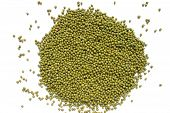 Mung Beans On A White Background