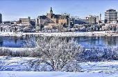 Cidade de Saskatoon no inverno