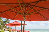 Red Umbrella Beach
