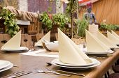 Restaurant Table Spread In Middleage Style