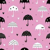 vector guarda-chuva transparente com design de papel de parede de amor