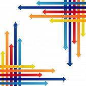 Colored arrows vector