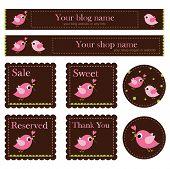 the birds-Premade shop Set