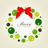 Christmas wreath card template