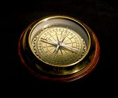 A photo of a compass