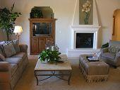 Schön eingerichtete Wohnzimmer Interieur