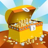 pic of treasure chest  - Treasure chest - JPG