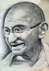 pic of gandhi  - Close up photo of Mahatma Gandhi father of Indian nation - JPG