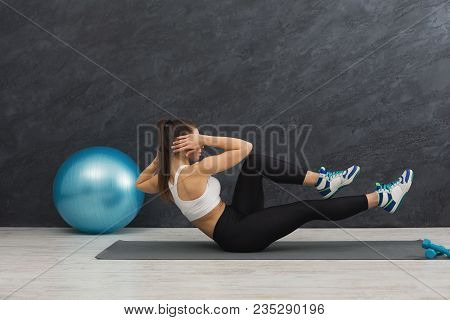 Fitness Woman Working On Her