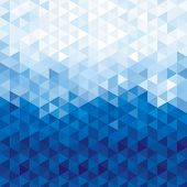 Blue Crystal Background. Triangles Background, Geometric Background. poster