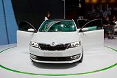 FRANKFURT - SEP 17: Skoda Mission L car shown at the 64th Internationale Automobil Ausstellung (IAA) on September 17, 2011 in Frankfurt, Germany.