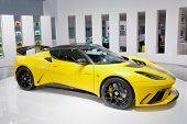 FRANKFURT - SEP 17: Lotus Evora GTE Sport car shown at the 64th Internationale Automobil Ausstellung