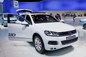 FRANKFURT - SEP 17: Volkswagen Touareg Hybrid car shown at the 64th Internationale Automobil Ausstel