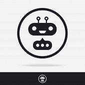 Chat Bot Icon Set Isolated On Background For Chatting Technology, Connection. Vector Illustration 10 poster