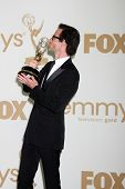 LOS ANGELES - SEP 18:  Guy Pearce in the Press Room at the 63rd Primetime Emmy Awards at Nokia Theat