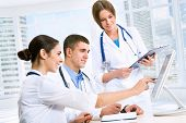foto of medical staff  - Young doctors in the workplace - JPG