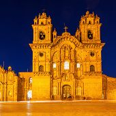 Cathedral On Plaza De Armas In Cusco, Peru poster