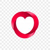Heart Logo Vector Infinity Loop Icon. Isolated Modern Heart Symbol For Cardiology Medical Center Or  poster