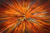 Psychedelic Hypnotic Unrealistic Abstract Speedy Red Background, Motion Blur Effect, Zoom Motion Blu poster