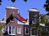 Pride Flag In Amsterdam