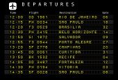 picture of brasilia  - Departure board  - JPG