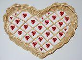 Wooden Heart Basket