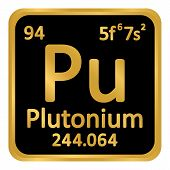 Periodic Table Element Plutonium Icon On White Background. Vector Illustration. poster