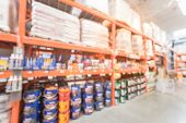 Blurred Large Hardware Home Improvement Store In Usa poster