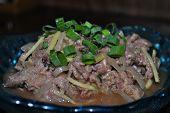 Fresh Tuna Poke, Micronesian Islands Favorite Raw Tuna Salad Flavored With Seasonings And Aromatics  poster