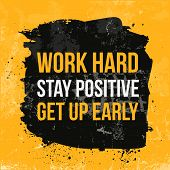 Work Hard Typography. Grunge Poster. Typographic Motivational Card About Working Hard. Typography Fo poster