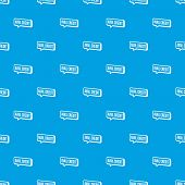 Avail Credit Pattern Vector Seamless Blue Repeat For Any Use poster