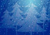 Christmas Trees Splatter Background
