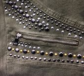 Close up Rivets jeans texture   poster