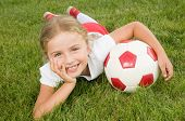 Soccer - Little soccer player portrait