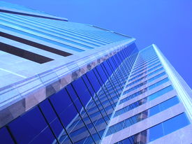 picture of modern building  - modern downtown office building - JPG