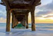 Sunset Under Manhattan Beach Pier