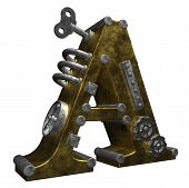 Steampunk Letter A