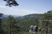 Spectacular View From Bohemian Switzerland To Saxon Switzerland poster