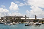 Marina At Old Naval Dockyard In Bermuda