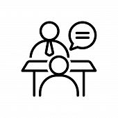 Black Line Icon For Face-to-face-conversation Face  Conversation Chitchat Gossip Jabber poster