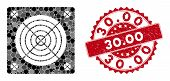 Mosaic Asic Miner Hardware And Rubber Stamp Seal With 30.00 Caption. Mosaic Vector Is Formed With As poster