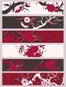 Red  Flowers  Banner Set