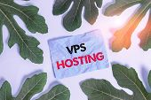 Conceptual Hand Writing Showing Vps Hosting. Business Photo Text Mimics A Dedicated Server Within A  poster
