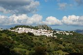 View Of The White Town With The Castle And Mountains To The Rear, Gaucin, Malaga Province, Andalucia poster