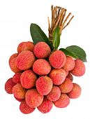 Litchi With Green Leaf