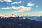 British Columbia Mountains. Beautiful British Columbia Mountains And River poster