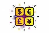 Currency Exchange Sign Icon. Halftone Dots Pattern. Currency Converter Symbol. Money Label. Classic  poster