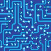 Circuit Board - Blue Abstract Vector Seamless Texture