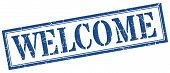 Welcome Stamp. Welcome Square Grunge Sign. Welcome poster