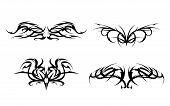 Tribal Tattoo designs vector set
